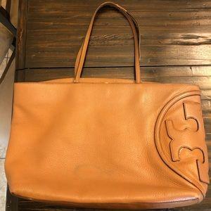 Tory Burch large brown tote bag
